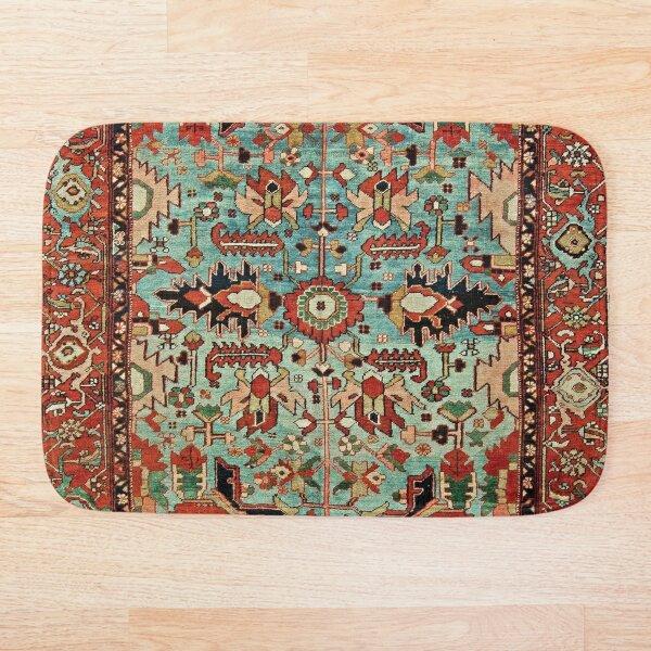Antique Heriz Persian Carpet Print Bath Mat