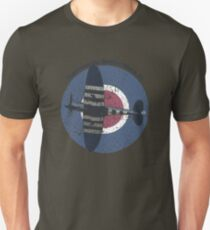 Vintage Fighter Plane Supermarine Spitfire Mark 19 Unisex T-Shirt