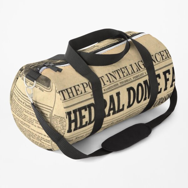 Old #Newspaper: CATHEDRAL DOME FALLS #OldNewspaper #snow #weight Duffle Bag