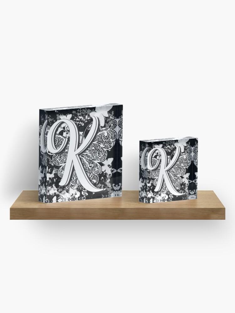 Alternate view of The Letter K: Decorative Monogram Single Initial Acrylic Block