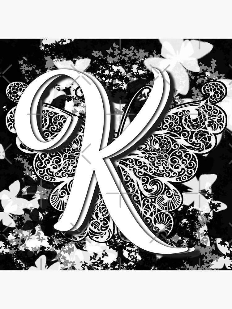 The Letter K: Decorative Monogram Single Initial by bowiebydesign