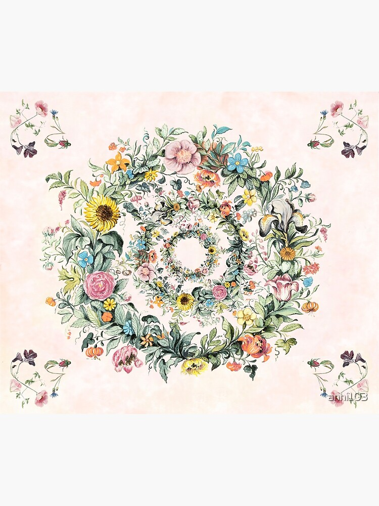 Circle of life-floral painting by anni103