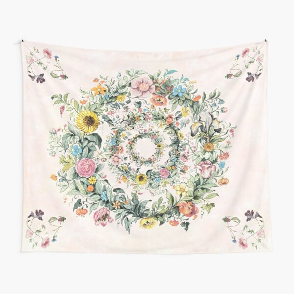 Circle of life-floral painting Tapestry