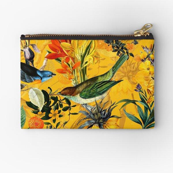 Pierre Joseph Redoute vintage fleurs et motif nostalgique de colibris Pochette
