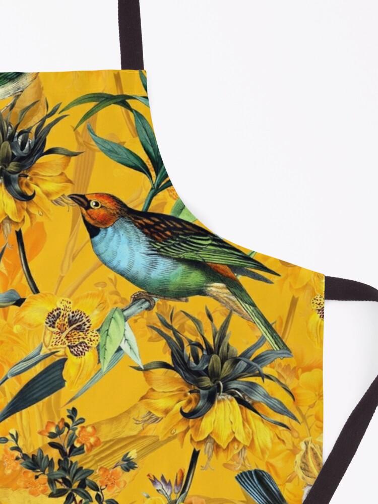 Alternate view of Pierre Joseph Redoute vintage flowers and hummingbirds nostalgic pattern Apron