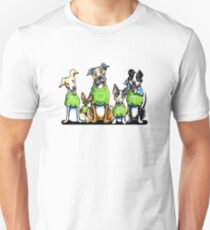 Think Adoption | Green Tee Shelter Dogs Unisex T-Shirt