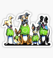 Think Adoption   Green Tee Shelter Dogs Sticker