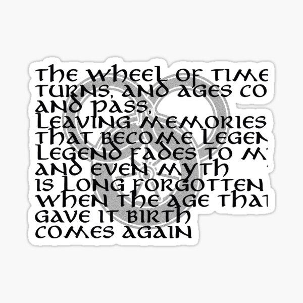Wheel of Time  turns  Sticker