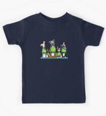 Think Adoption | Green Tee Shelter Dogs (Design for Dark) Kids Tee