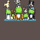 Think Adoption | Green Tee Shelter Dogs (Design for Dark) by offleashart