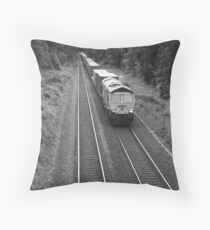 Evening Freight Train Throw Pillow