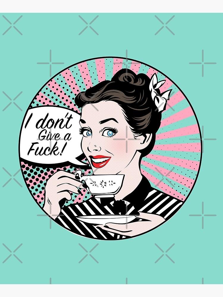 Pop Art retro woman IDGAF feminist Sticker by zummi