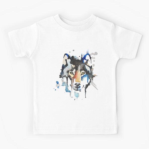 Watercolour Wolf Kids T-Shirt