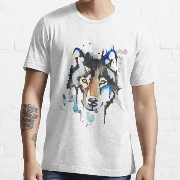 Watercolour Wolf Essential T-Shirt