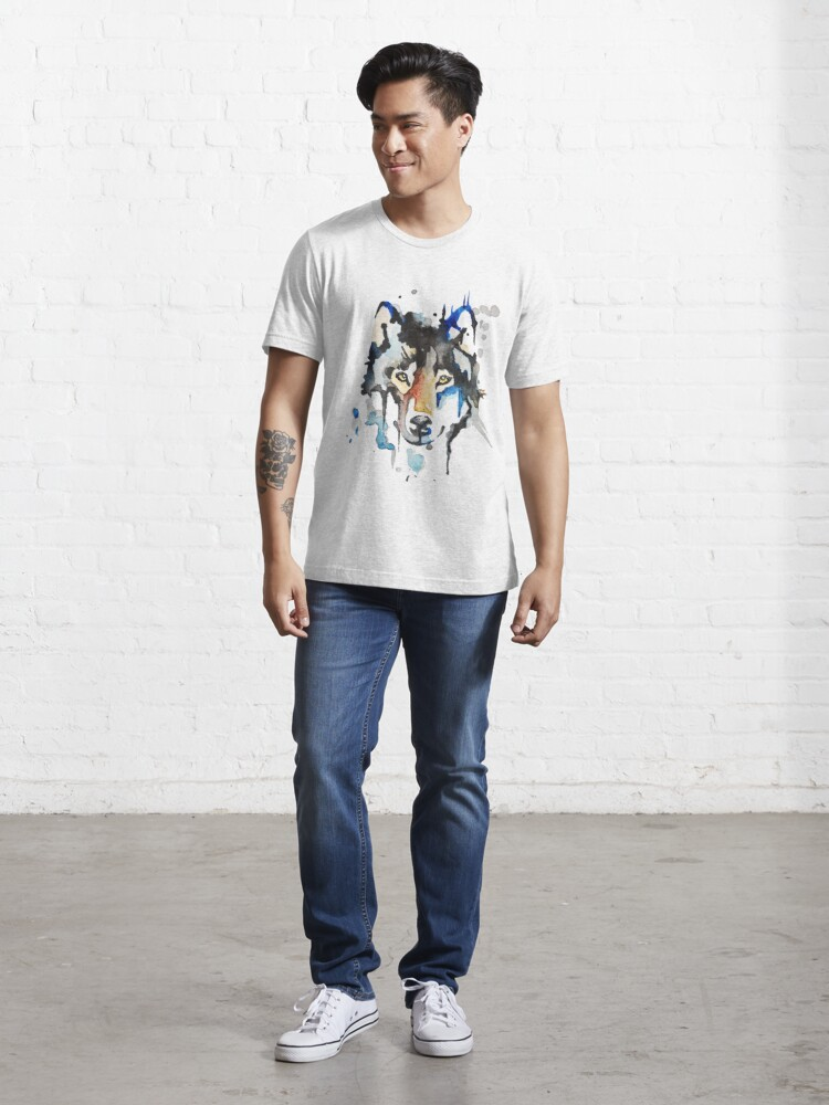Alternate view of Watercolour Wolf Essential T-Shirt