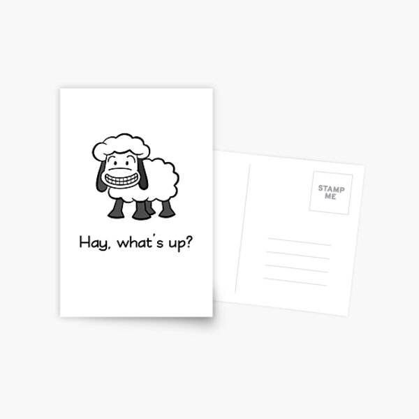Hay, what's up? Postcard
