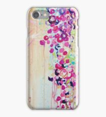 DANCE OF THE SAKURA - Pretty Cherry Blossoms Japanese Floral, Whimsical Abstract Acrylic Painting iPhone Case/Skin