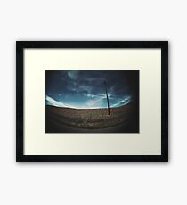 empty sky empty road Framed Print
