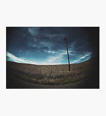empty sky empty road Photographic Print