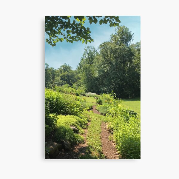 Herb Garden Path - Image to Complete Health, Family and Community Canvas Print
