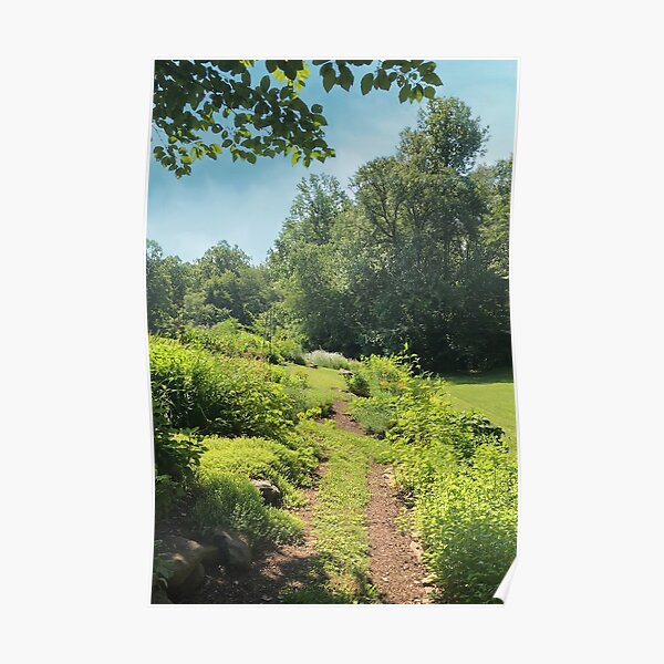 Herb Garden Path - Image to Complete Health, Family and Community Poster