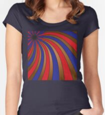 Brown, red, and blue swirls Women's Fitted Scoop T-Shirt