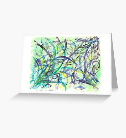Green & Purple Watercolor Greeting Card