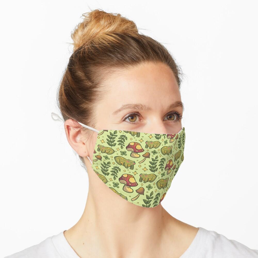 Friendly Forest Froggy Pattern Mask