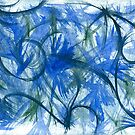Blue Spark Watercolor by Jess Meacham
