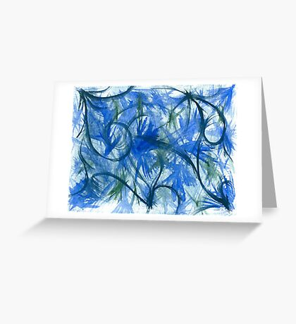 Blue Spark Watercolor Greeting Card