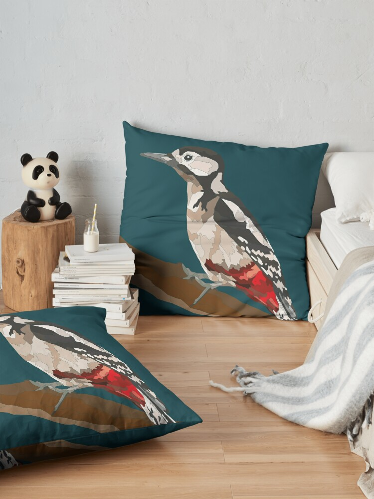 Alternate view of Woodpecker Design Floor Pillow