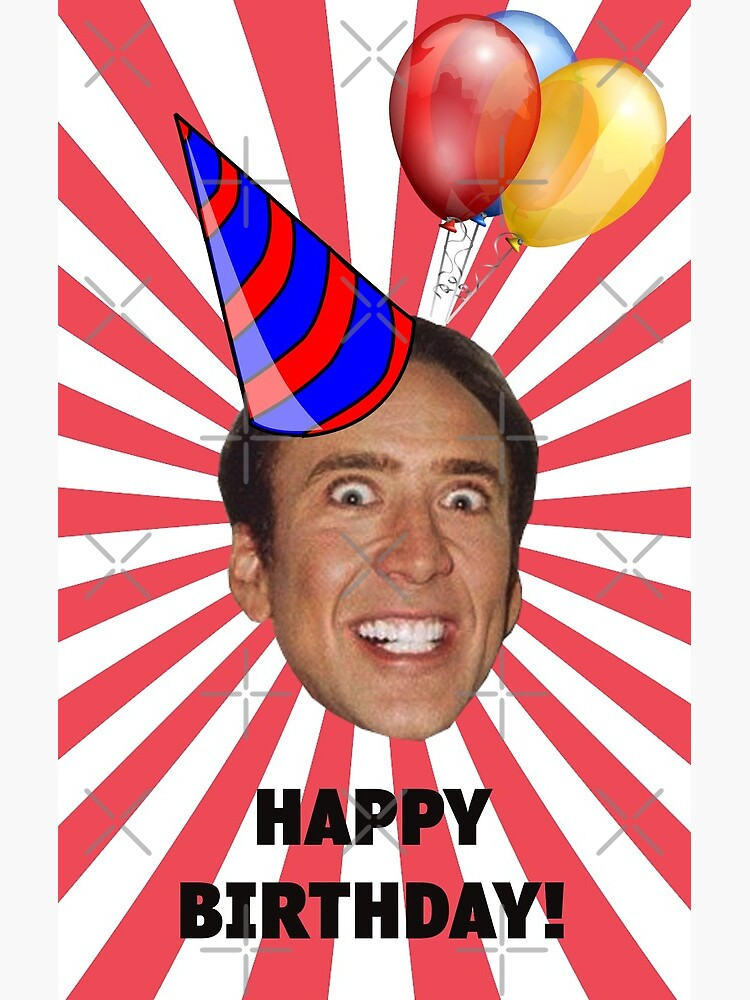 Nicolas Cage In Front Of A Nebula On A Cupcake Happy Birthday Memes Know Your Meme