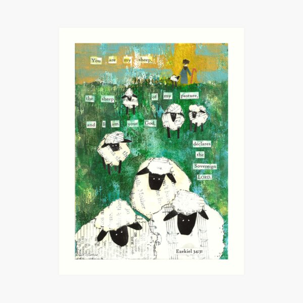 You are My Sheep Art Print