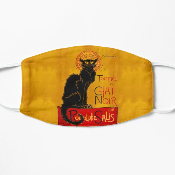 The Classic and Very Cool Chat Noir (Black Cat) Poster With A Twist Flat Mask