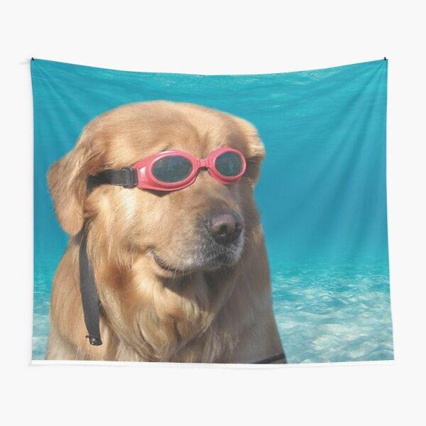 Dog Swimmer  Tapestry