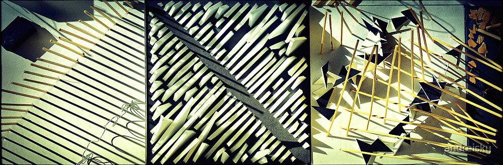 Abstract triptych by andreisky