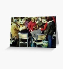 A little more conversation and a little less action... Greeting Card