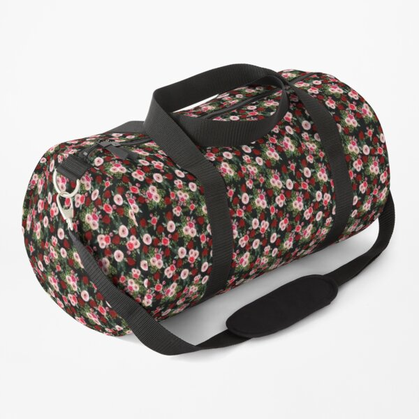 Beautifully patterned red rose & white flowers Duffle Bag