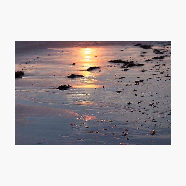 Beach Reflecting Sunset Photographic Print