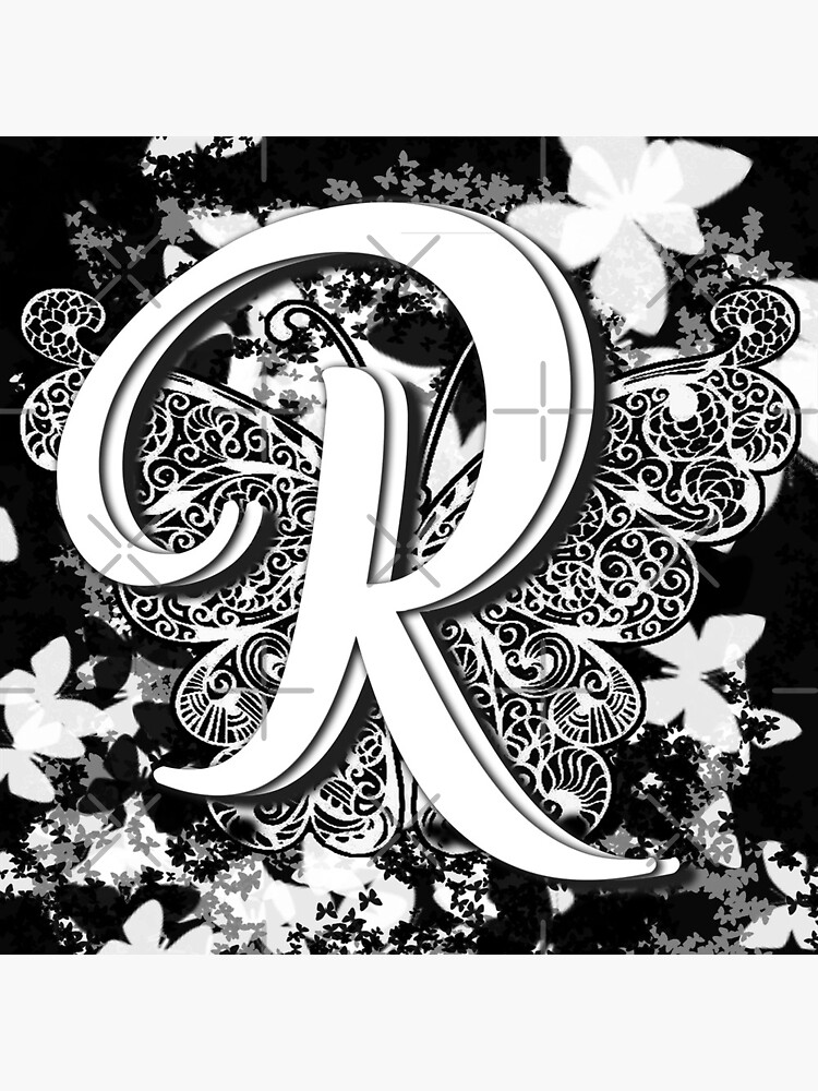 The Letter R: Decorative Monogram Single Initial by bowiebydesign