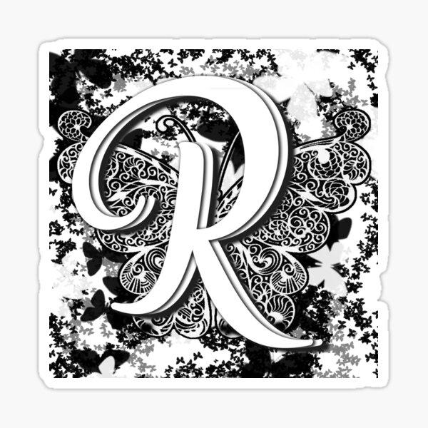 The Letter R: Decorative Monogram Single Initial Sticker