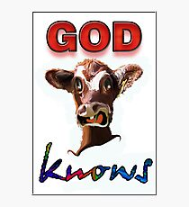 GOD KNOWS Photographic Print