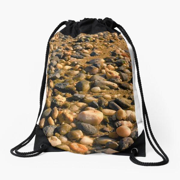 Beach stones Drawstring Bag
