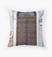 Wrought Iron Door Throw Pillow