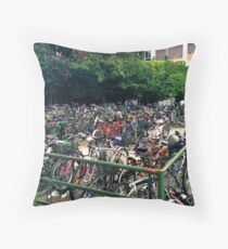 Bike Multitude Throw Pillow