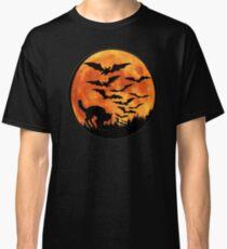 Halloween Bats Cat Classic T-Shirt
