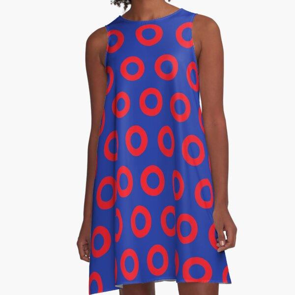 Jon Fishman - Phish Drummer Red Circle Print A-Line Dress
