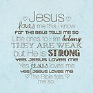 Jesus Loves Me – 2:3 – Blue  by Janelle Wourms