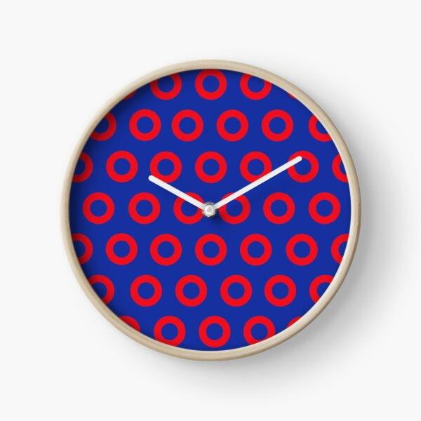 Jon Fishman - Phish Drummer Red Circle Print Clock