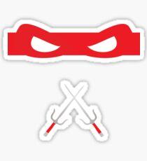 Red Ninja Turtles Raphael Sticker